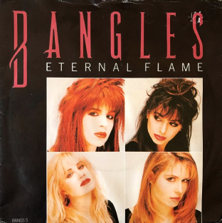"Bangles ‎- Eternal Flame (7"") (VG-/G+)"
